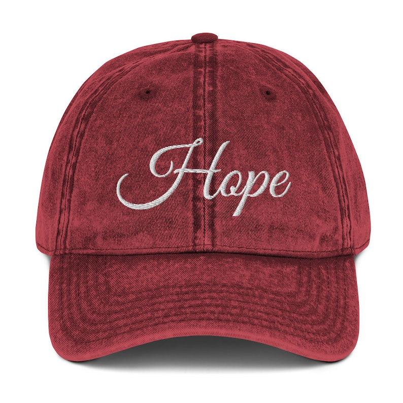 Inspirational Hat  Hope Vintage Cotton Twill Cap  Recovery  image 0