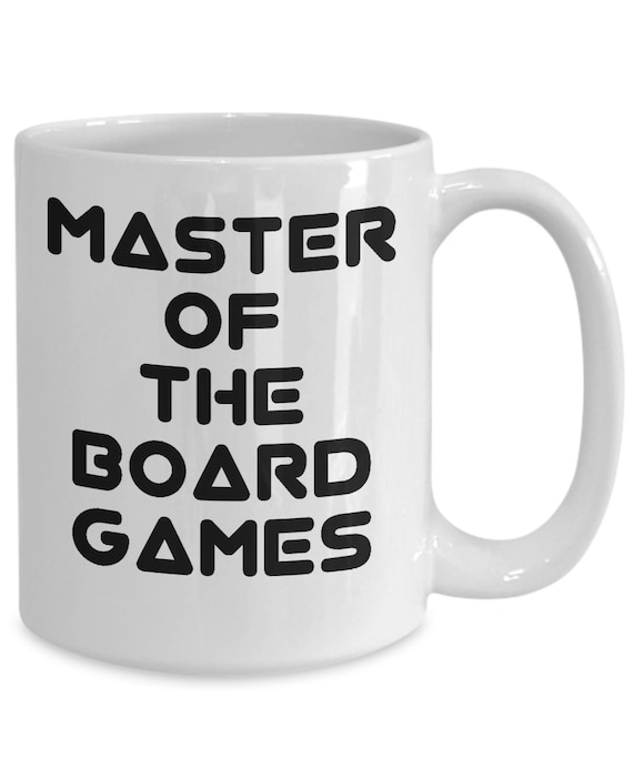Board game mug - master of the board games coffee tea cup