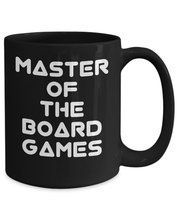 Board game mug - master of the board games black coffee tea cup
