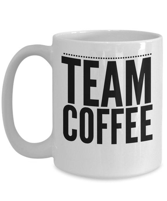 Coffee enthusiast gift mug  team coffee cup