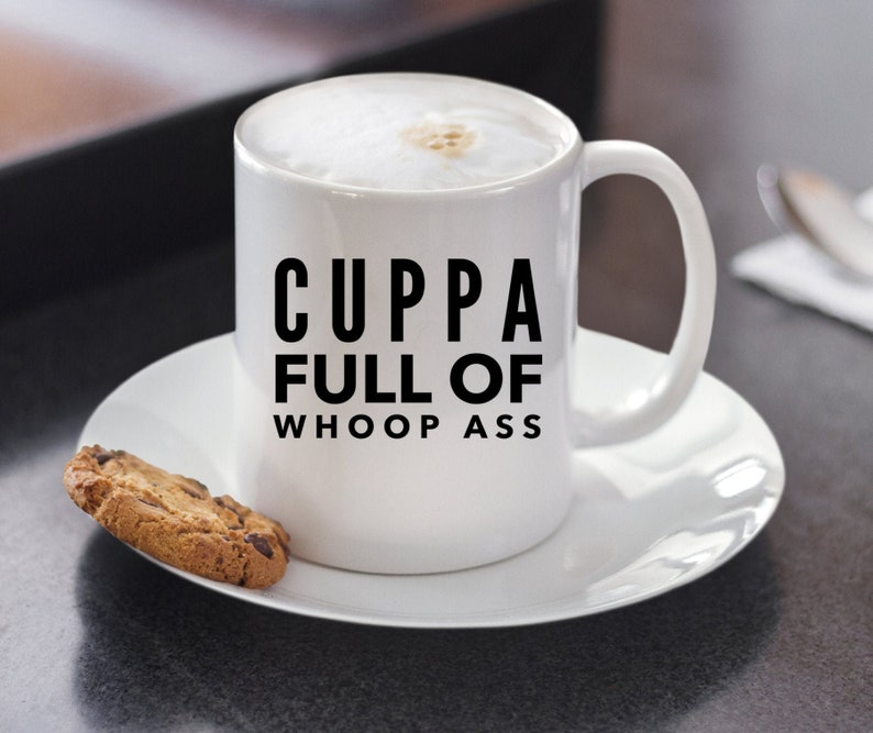 Boxing Gift  Cuppa Full Of Whoop Ass Coffee Mug  Boxer image 0