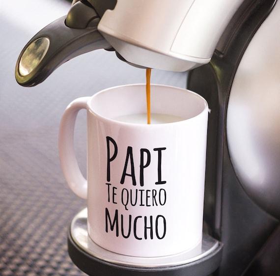 Regalo para papa  papi te quiero mucho coffee mug  taza de cafe  dia del padre
