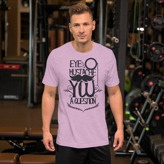 Œil moustache moustache Œil une Question. Manches courtes T-Shirt unisexe c8d4bd