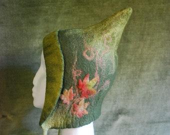 Merino wool child's Autumn Elf, Pixie Hat