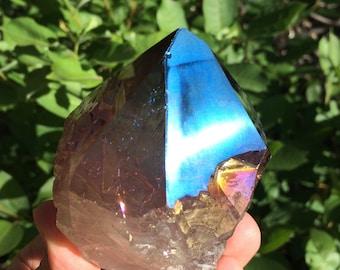 Aura Quartz Point- Rainbow Titanium Quartz -Titanium Aura Quartz