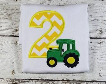 Tractor Birthday Shirt, Farm Birthday Shirt, Boy Birthday Shirt
