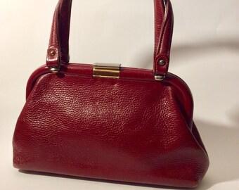bd2581d5c8 Roger Van S. 1960 Oxblood Leather Handbag