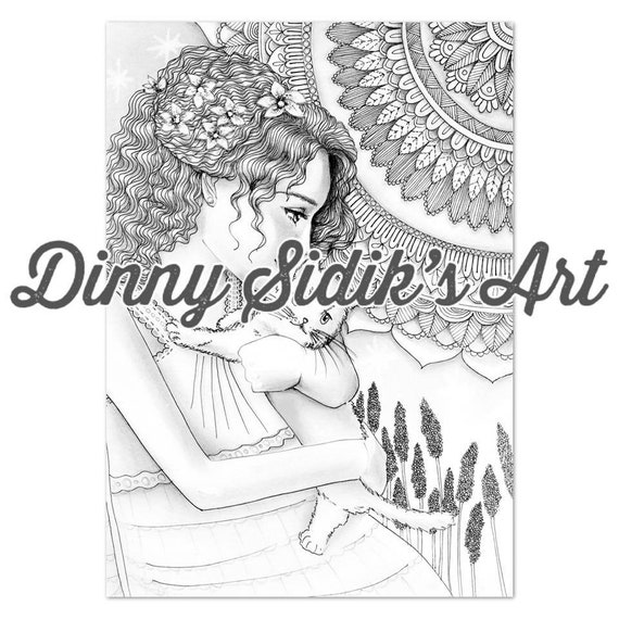 My Aesthetic Girls Part 4 5 Printable Coloring Pages Etsy