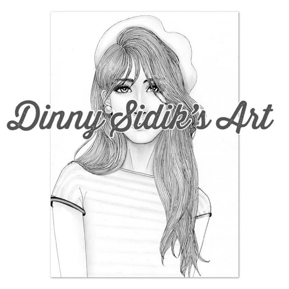 My Aesthetic Girls Part 2 5 Printable Coloring Pages Etsy