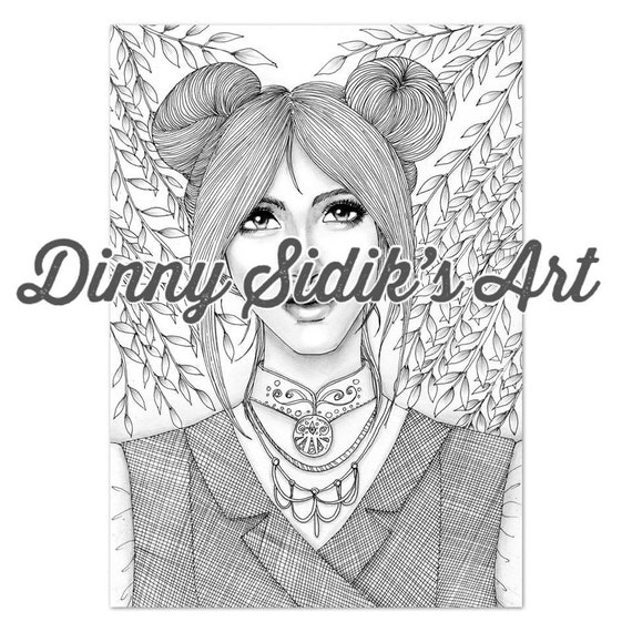 My Aesthetic Girls Part 5 5 Printable Coloring Pages Etsy