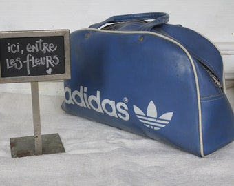 Adidas Vintage Weekend Bag - Faded Blue + Zip - Vintage 60s   70s 9e156afee51dd