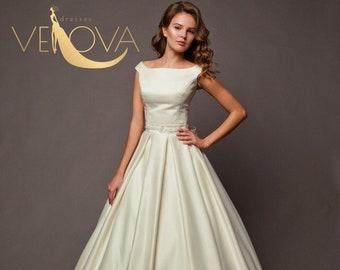 c06209df0df Plus size wedding dress 50s