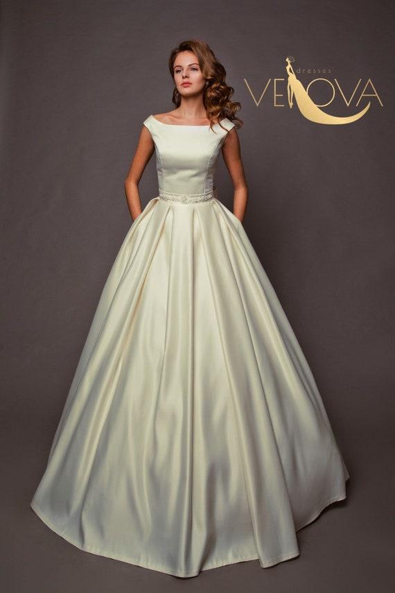 Modest Wedding Gown Fairy Wedding Gown Modern Wedding Gown | Etsy