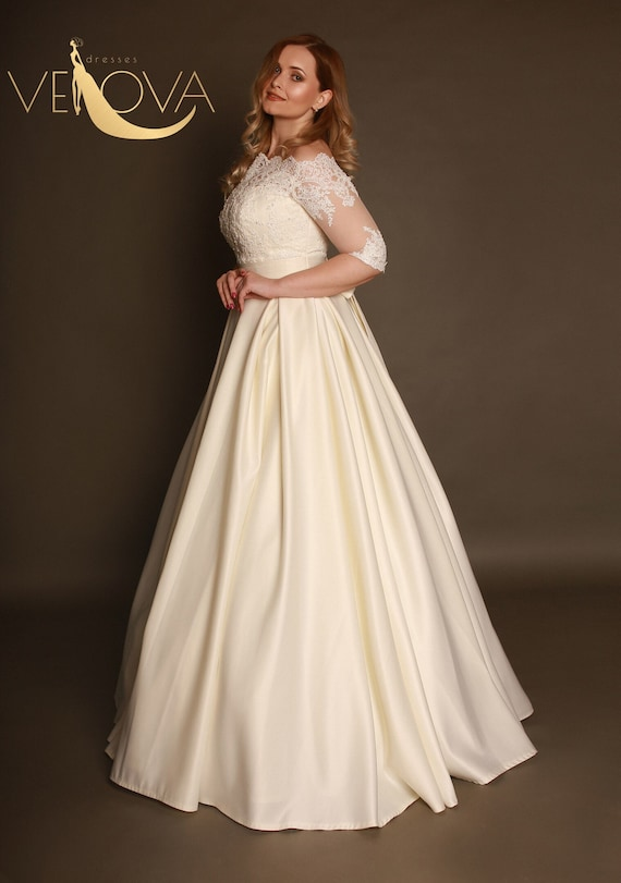 0d5297722314 long sleeve wedding dress plus size wedding dress maternity