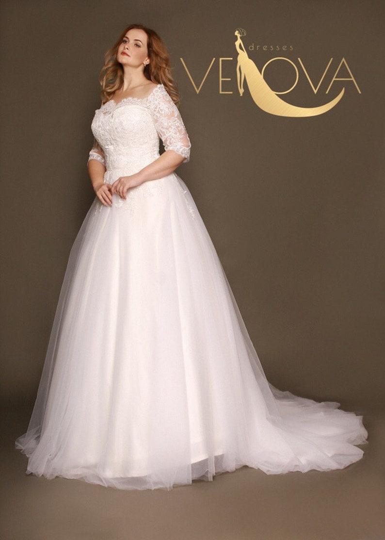 Long Sleeve Plus Size Wedding Dresses Ficts