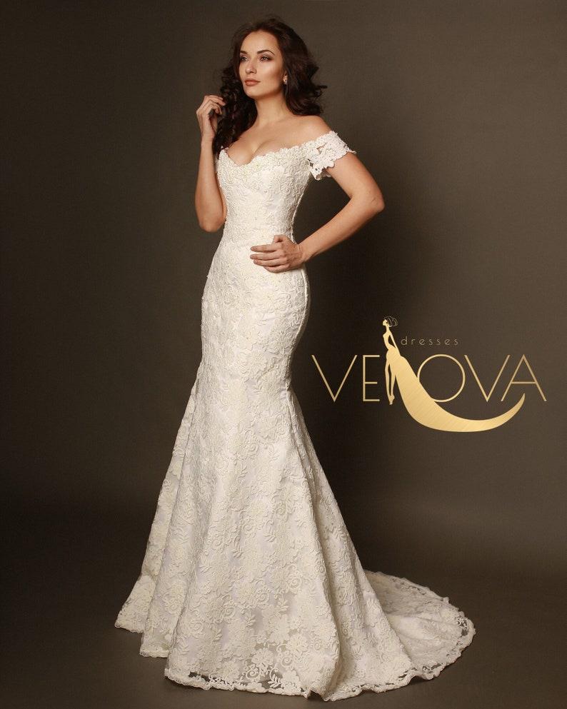 909e325fe Mermaid Lace Wedding Dress Sexy Wedding Dress Romantic | Etsy
