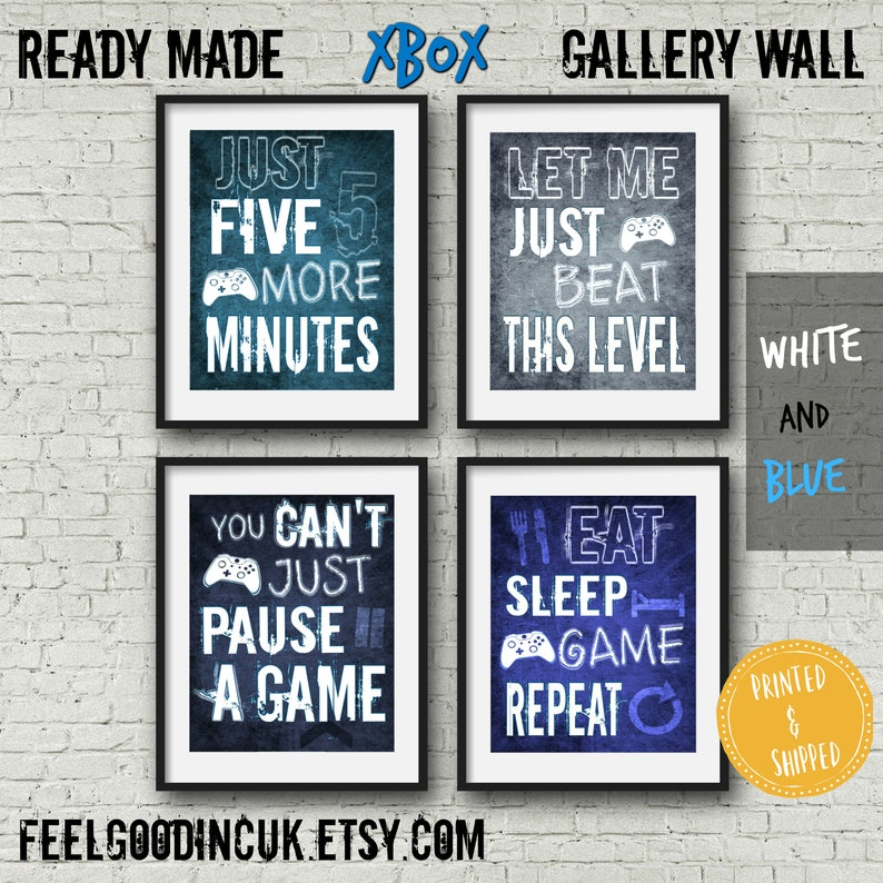 Set of XBOX POSTERS, Video Game Quotes, Video Game Posters, Xbox  Controller, Video Game Wall Art, Mancave Decor, Game room, Teenage bedroom