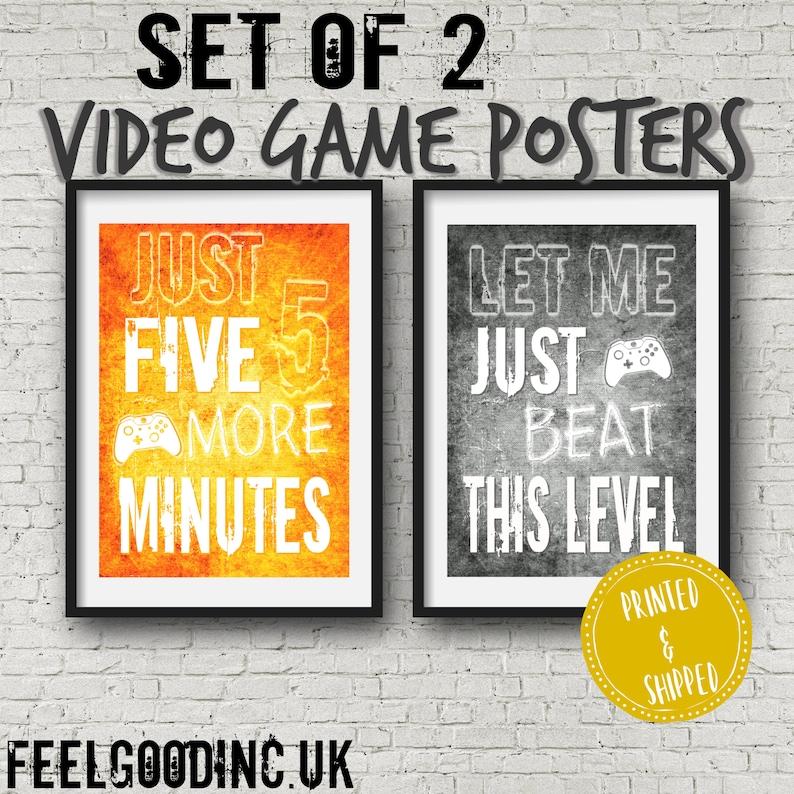 Set of 2 XBOX POSTERS, Orange and Grey Video Game Quotes, Xbox Video Game  Posters, Xbox decor, Video Game room, Teenage bedroom, teen gift