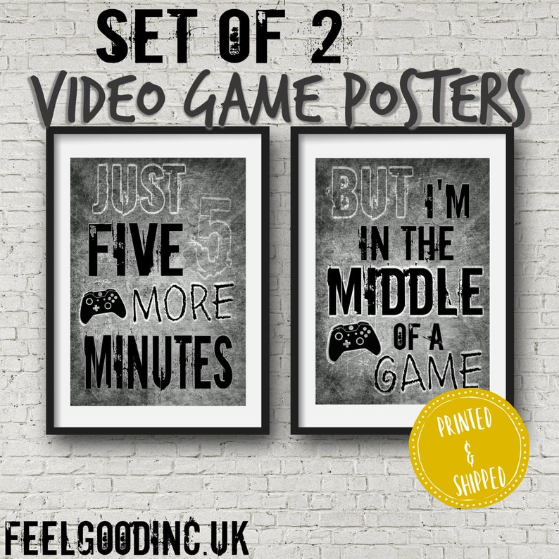 Set of 2 XBOX POSTERS, Video Game Quotes, Xbox Video Game Posters, Xbox  decor, Video Game, Wall Art, Game room, Teenage bedroom, teen gift