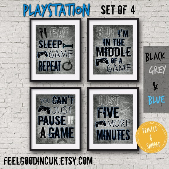 Set Of Playstation Posters Video Game Quotes Video Game Etsy