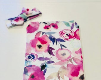 Baby cocoon swaddle, cocoon swaddle sack, girl swaddle blanket, baby shower gift, organic cotton swaddle cocoon sack, floral swaddle sack