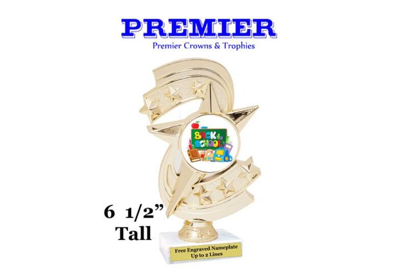 6 12 tall trophy School theme trophy