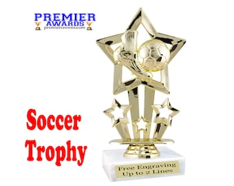 Soccer trophy.  Great award for sports leagues, recreational departments, schools, and more.