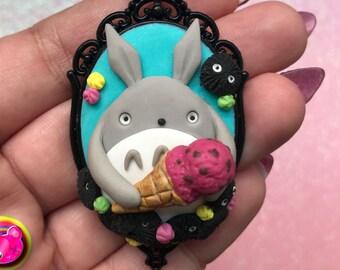 My Neighbor Totoro polymer clay pendant