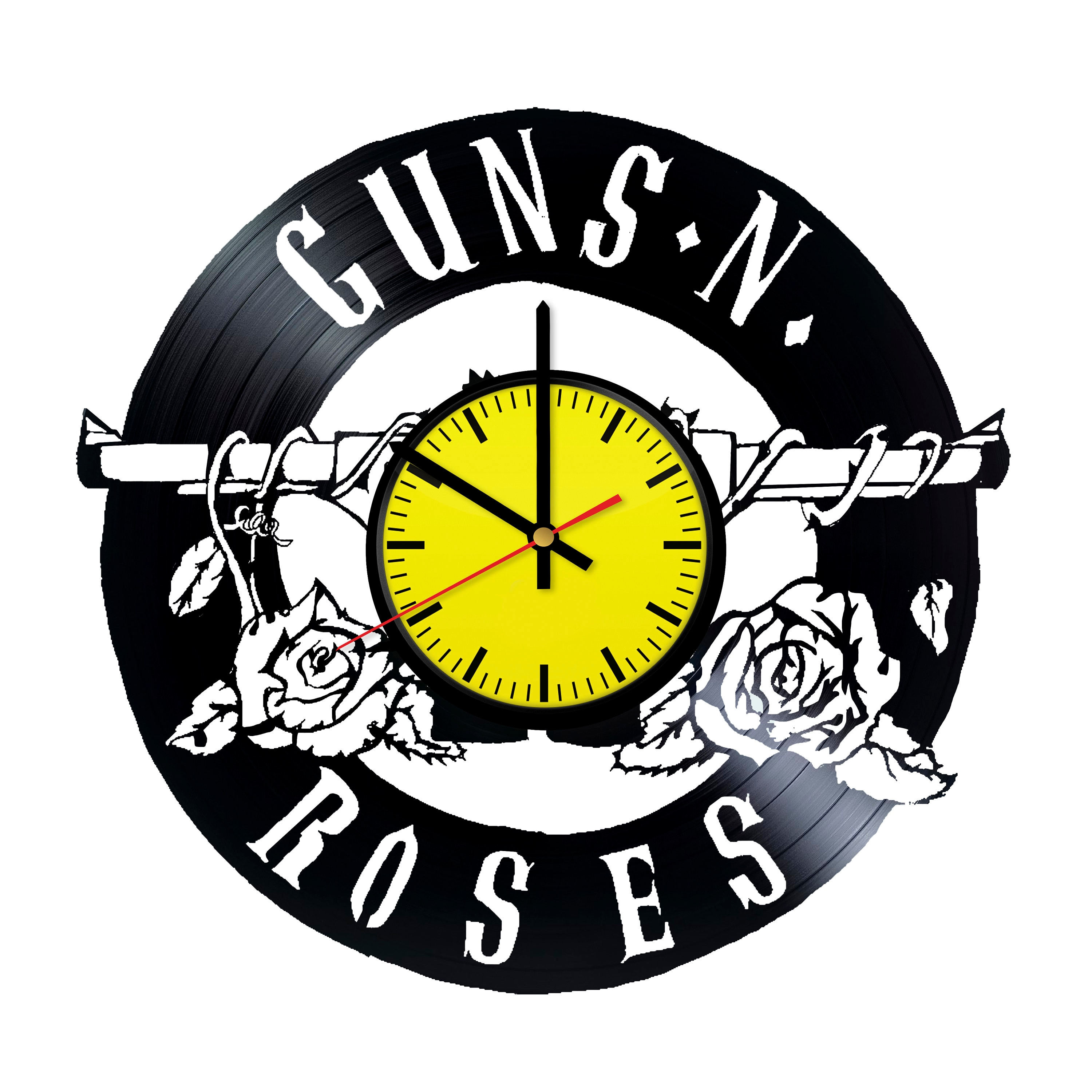 Guns N\' Roses Music Band Handmade Vinyl Record Wall Clock | Etsy