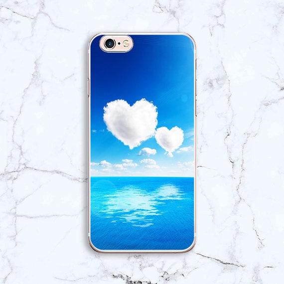 Nuages ciel iPhone X étui iPhone iPhone Case 8 8 Case Plus iPhone iPhone Case 7 7 Case Plus iPhone 6 Case iPhone 6 Plus Etui Silicone