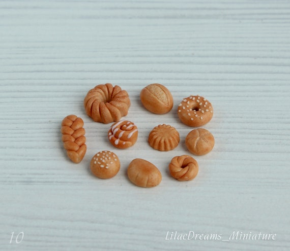 4 PCS 1:12 Dollhouse Miniature Bread Set