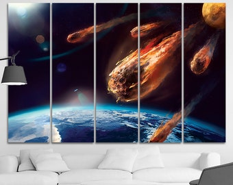 Surface canvas Surface print Space decor Space canvas Moon wall art Science decor Planets decor Travel wall decor Abstract print art