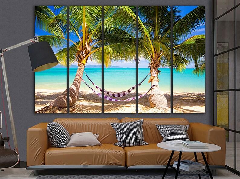 C Panorama Of The Tropical Beach  Art Print Home Decor Wall Art Poster