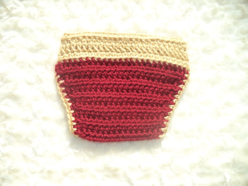 Baby King Outfit Crochet Prince Outfit Crochet Diaper Cover Set Newborn Photo Prop,Red Crochet Baby King  Crown Baby Shower Gift Gold