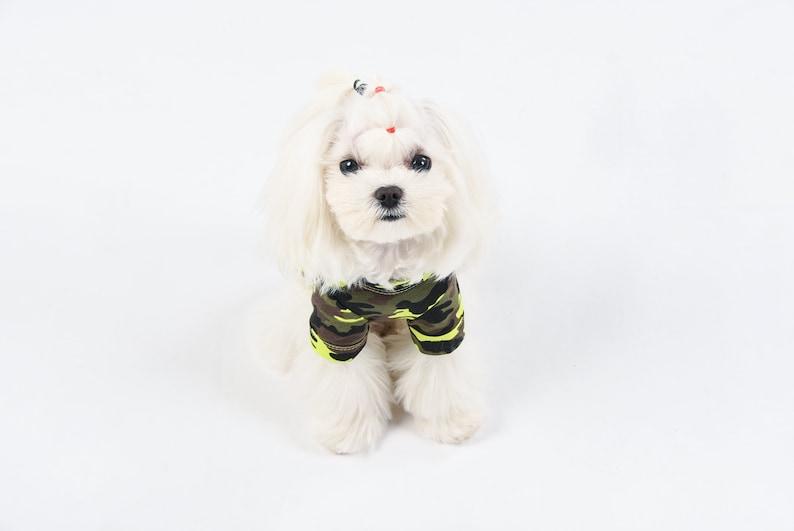 Dog Shirt PetMan Green and Yellow Camouflage Dog T-Shirt Dog Clothes Dog Tee
