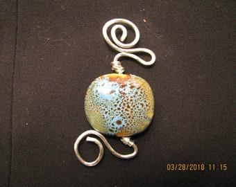 Silver and Ceramic Pendant
