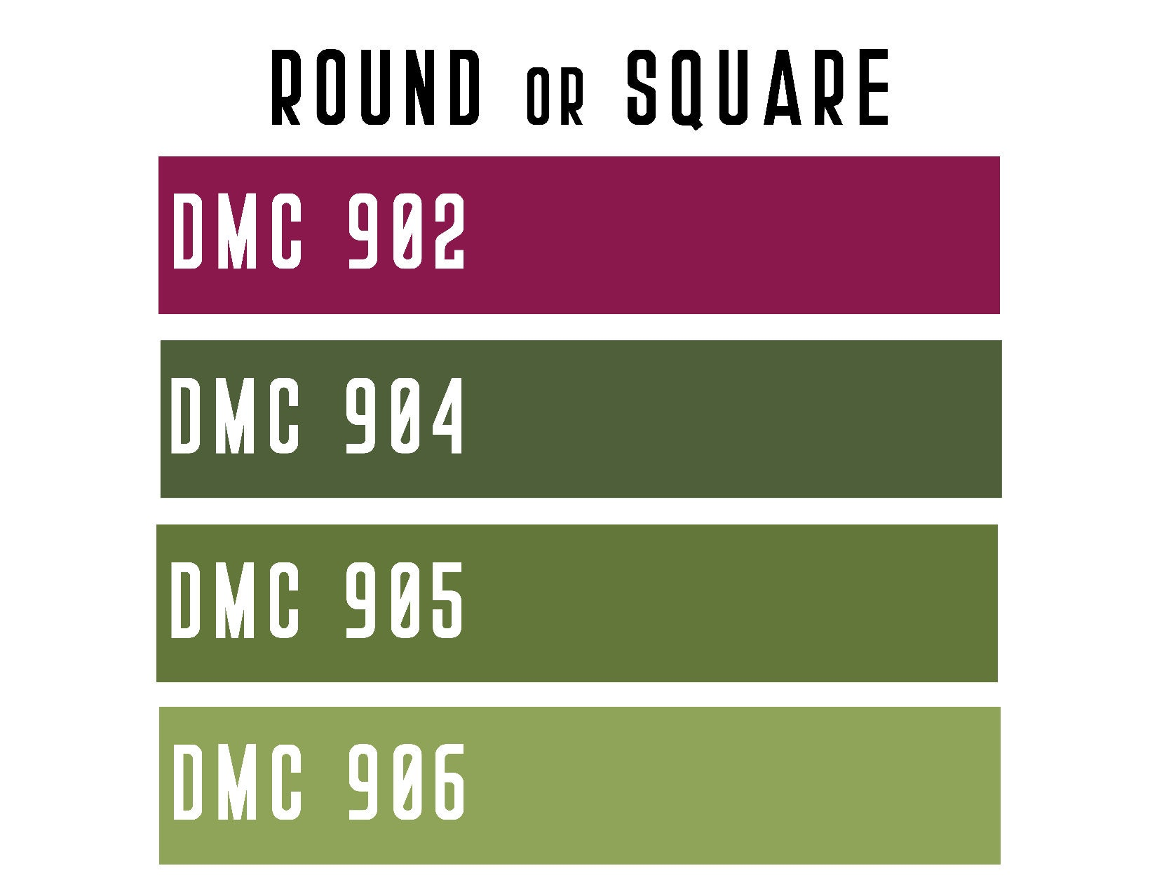 DMC 902 / 904 / 905 / 906 ROUND or SQUARE Resin Diamond