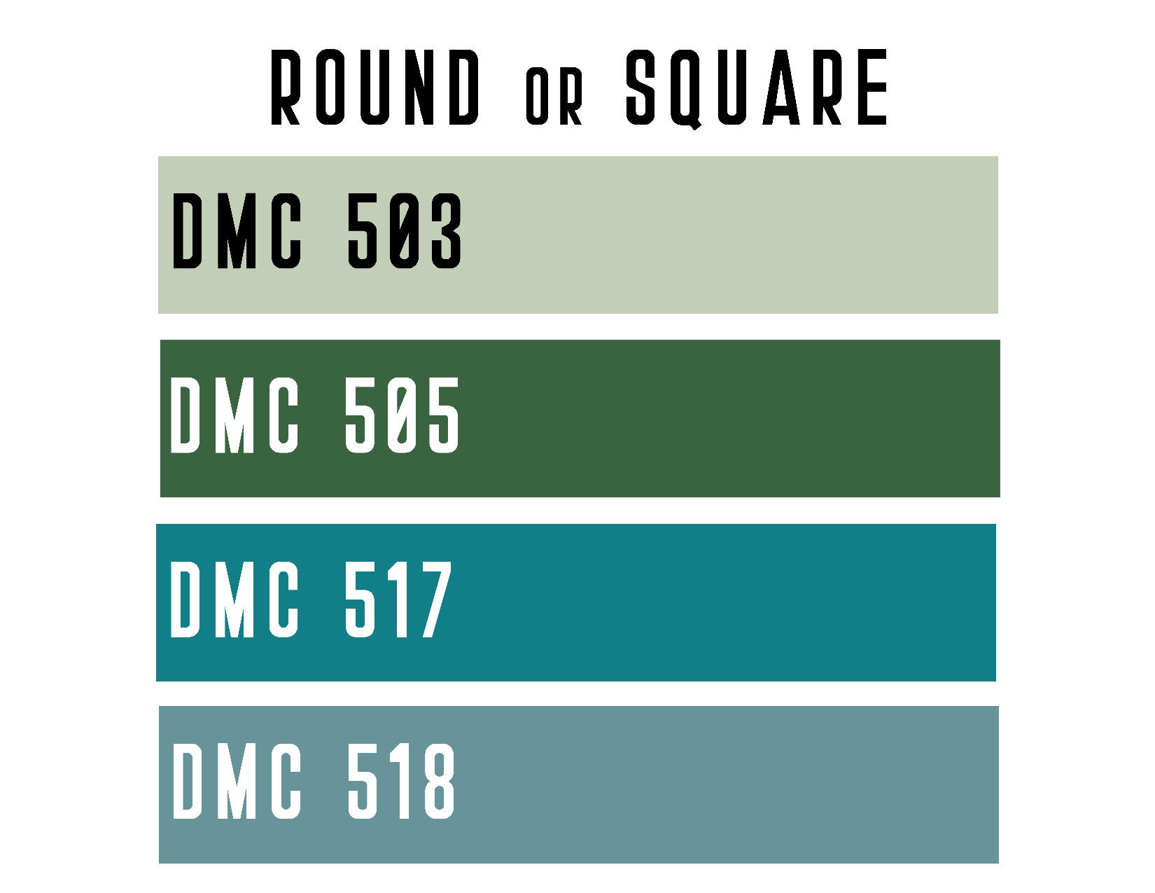 DMC 503 / 505 / 517 / 518 ROUND or SQUARE Resin Diamond