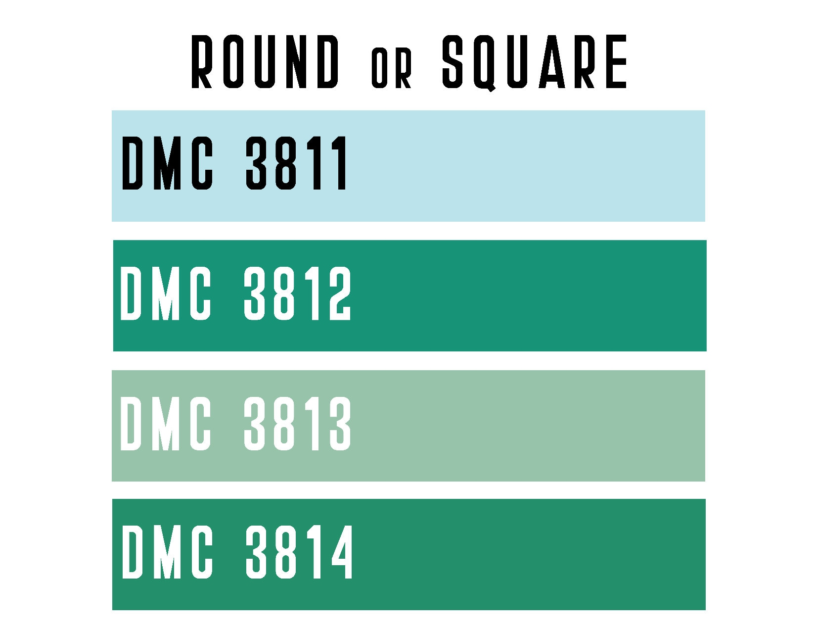 DMC 3811 / 3812 / 3813 / 3814 ROUND or SQUARE Resin Diamond
