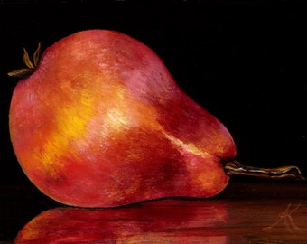 Reclining Red  Pear