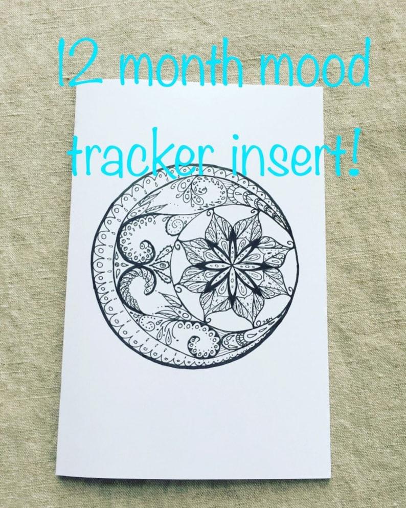 12 Month Mood Tracker Bullet Journal Insert image 1