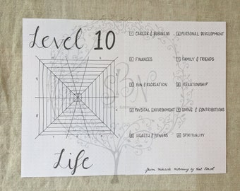 Instant Download Level 10 Life for your A5 Bullet Journal