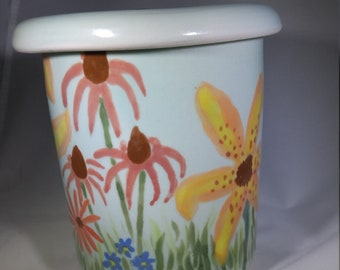 Flower Garden Lidded Jar