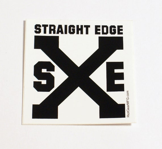 Straight Edge Xxx Greeting Card By Warstaws