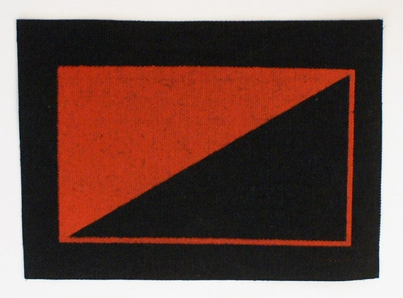 be70c3ff73e8 Anarchist Flag Patch Screenprinted on canvas