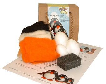 Needle felting kit Penguin