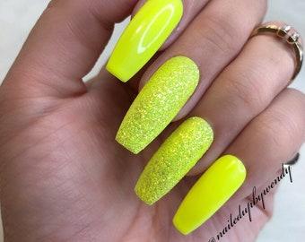 Neon nails | Etsy