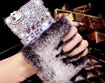 GlamFur Glamour meets luxury sparkling stones & soft rabbit fur