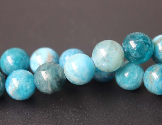 New 6mm faceted blue ink Apatite Round Gemstones Loose Beads 15 inch AA