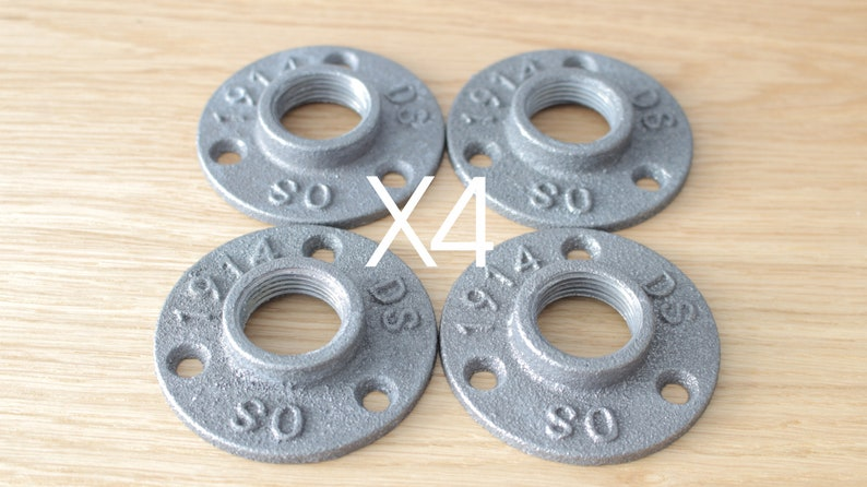34 Malleable Iron Flange Fast Free Shipping x4 - Wall Flange